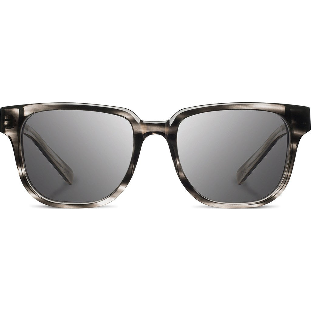 Shwood Prescott Acetate Sunglasses | Pearl Grey & Ebony / Grey Polarized WAPPGEBGP