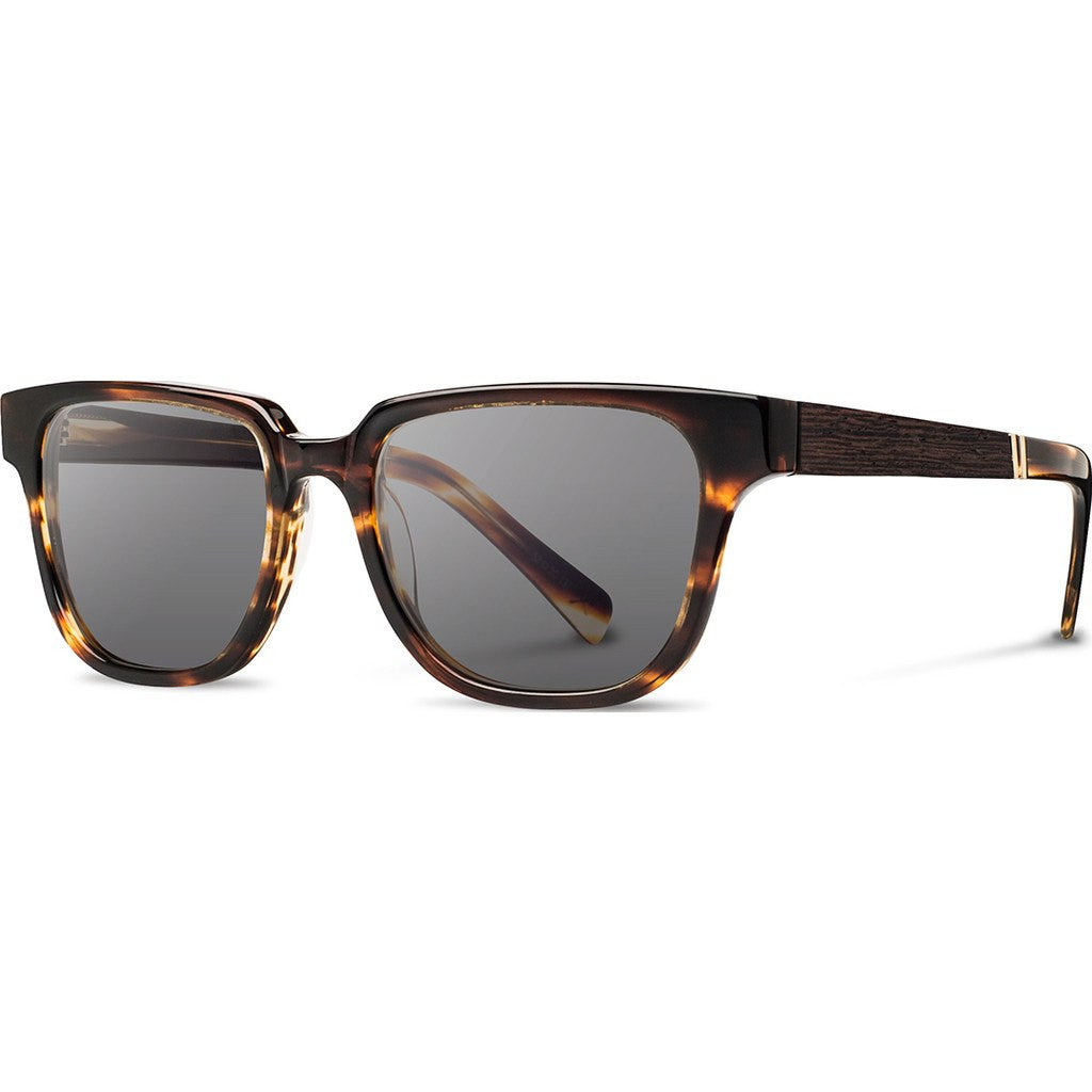 Shwood Prescott Acetate Sunglasses | Tortoise & Ebony / Grey Polarized WAPTEBGP