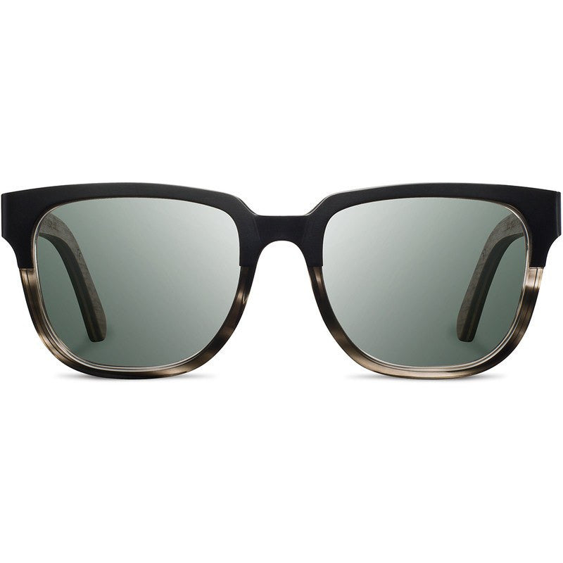 Shwood Prescott Titanium Fifty Fifty Sunglasses | Pearl Grey & Walnut / G15 Polarized