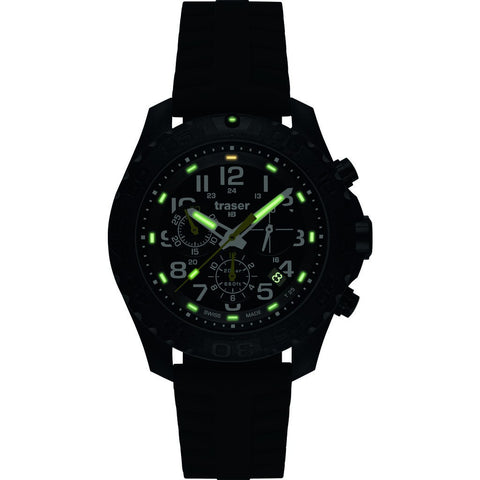 Traser H3 Outdoor Pioneer Chronograph Watch | Silicone Strap 105199