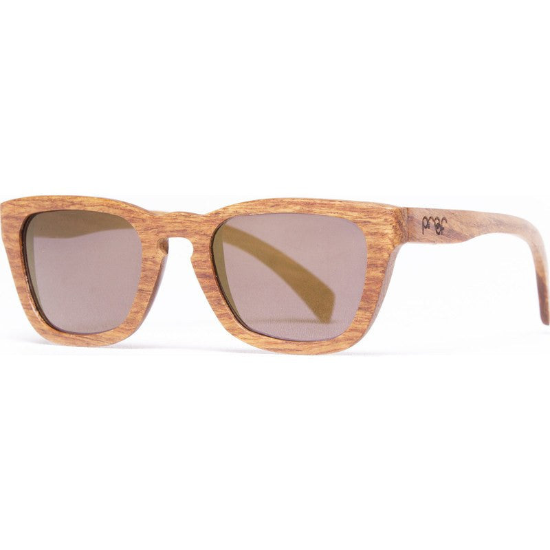 Proof Provo Lace Wood Sunglasses | Gold Lens