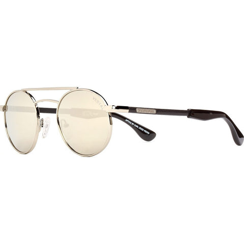 Vestal Quentin Sunglasses | Black Leather/Silver Mirror VVQU005