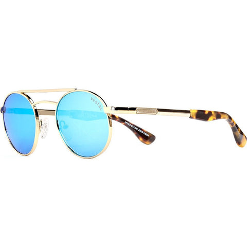 Vestal Quentin Sunglasses | Black And Gold Chunky Tort/Blue Mirror VVQU006