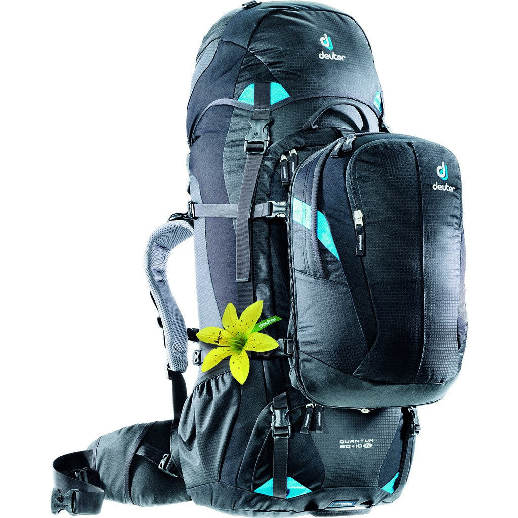 Deuter Quantum 60L SL Women's Travel Backpack | Black/Turquiose 3510315 73210