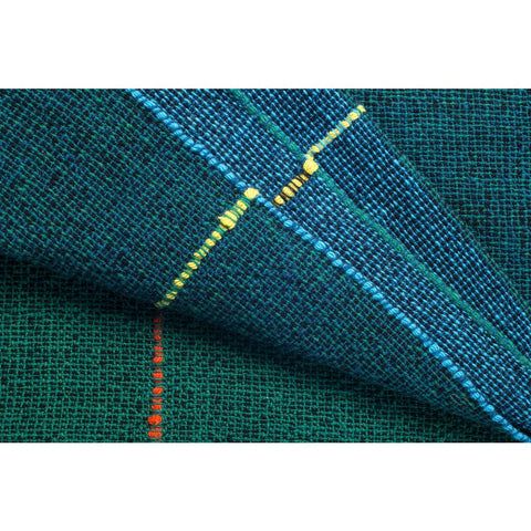 Zuzunaga Quaternio Blue Throw Blanket | Merino Wool