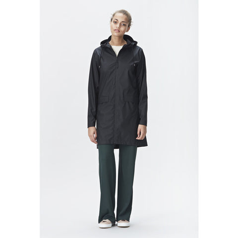 RAINS Women's Waterproof W Coat | Black