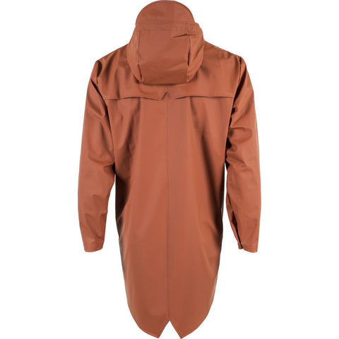 RAINS Waterproof Long Jacket | Rust 1202 M/L