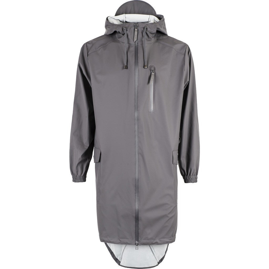 RAINS Waterproof Parka Coat | Smoke 1233 M/L