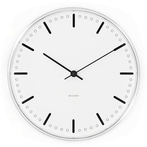 Arne Jacobsen City Hall Clock 210/290 | White 43631/43641