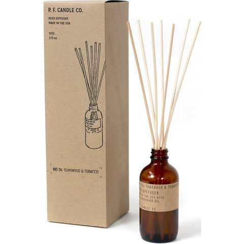 P.F. Candle Co. Diffuser 3 oz. | Teakwood & Tobacco RD4