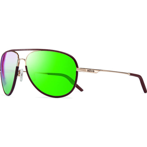 Revo Eyewear Carlisle Gold Sunglasses | Green Water RE 1030 04 GGN