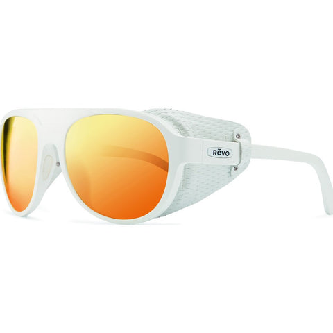 Revo Eyewear Traverse White Sunglasses | Solar Orange RE 1036 09 OG