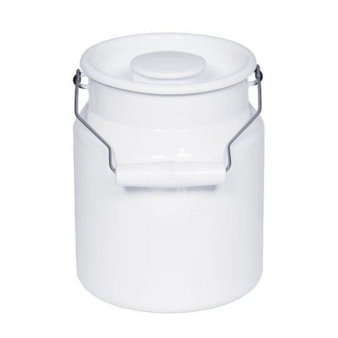 Riess 2L Milk Can with Lid | White