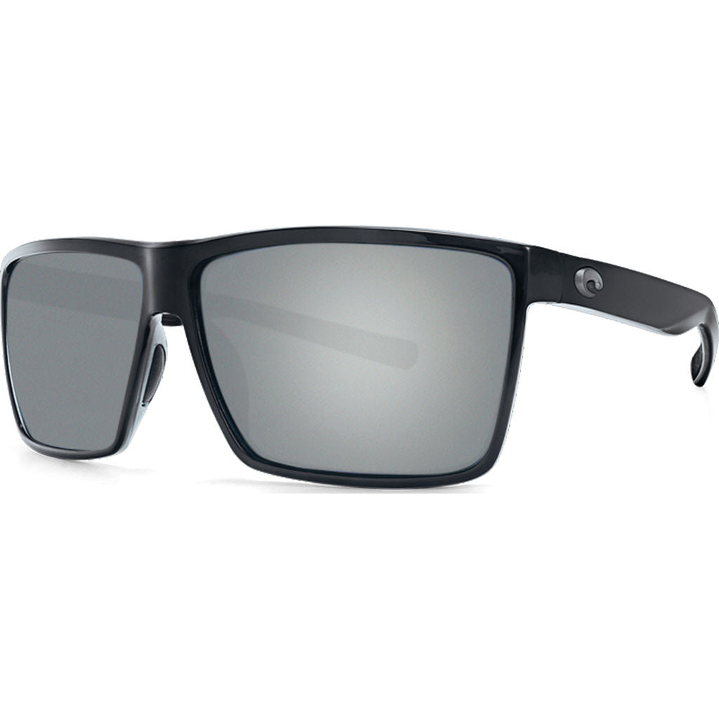 Costa Rincon Shiny Black Sunglasses | Gray Silver Mirror 580P