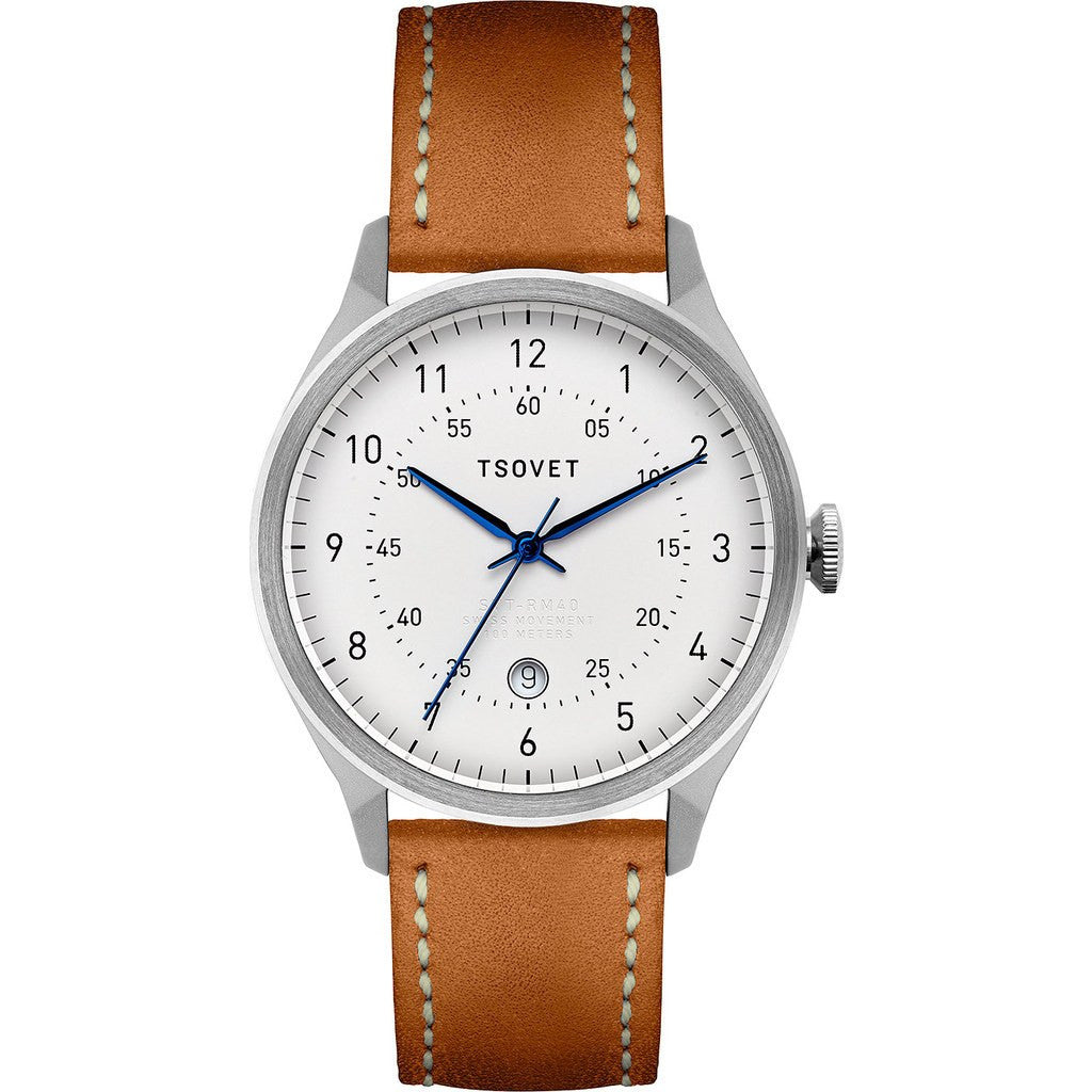 Tsovet SVT-RM40 White Watch | Tan Leather RM111513-40