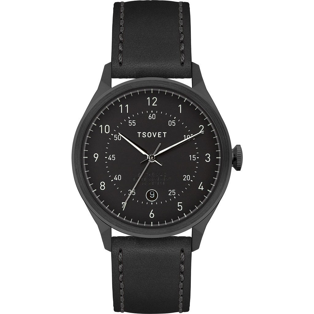 Tsovet SVT-RM40 Black Watch | Black Leather RM331010-45