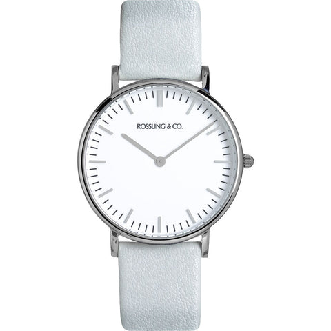 Rossling & Co. Classic 36mm Gray Watch | Silver/White/Light gray- RO-005-013