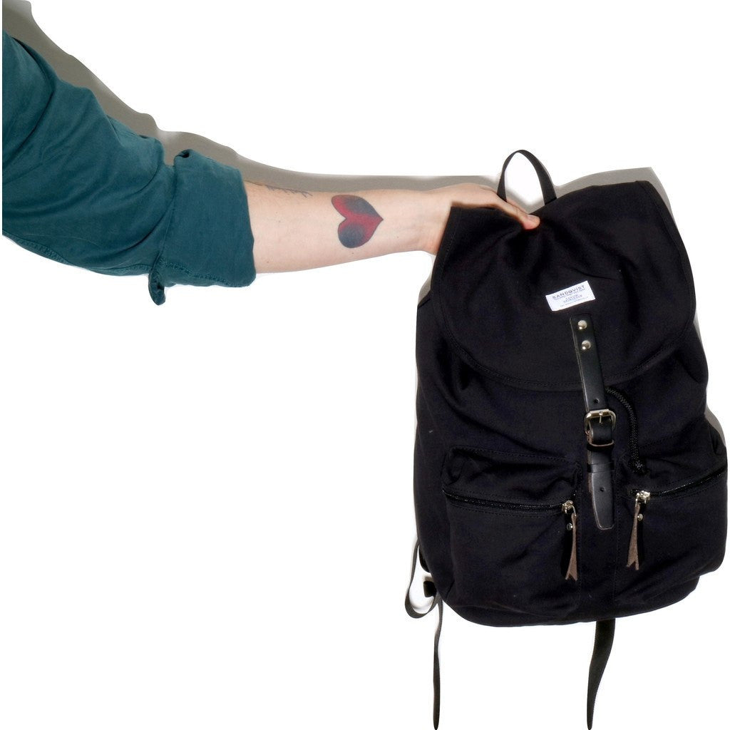 Sandqvist Roald Ground Backpack | Black SQA531