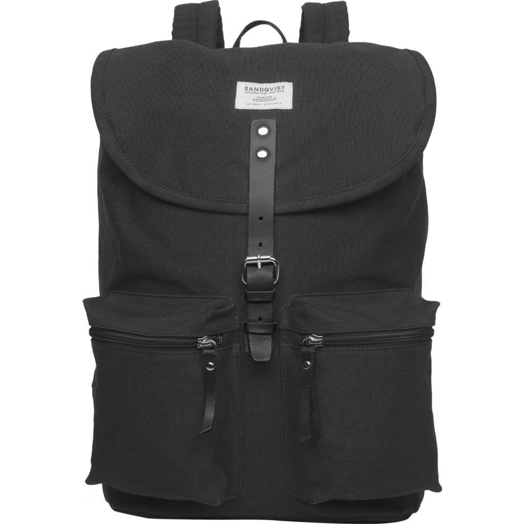 Sandqvist Roald Ground Backpack | Black SQA532