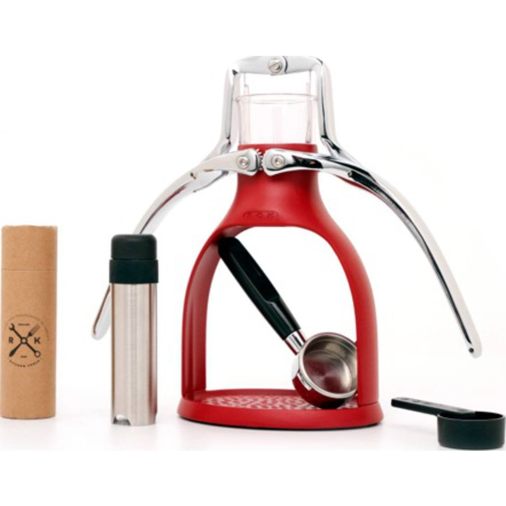 ROK Espresso Maker | Red/Chrome ROKMAKERRED