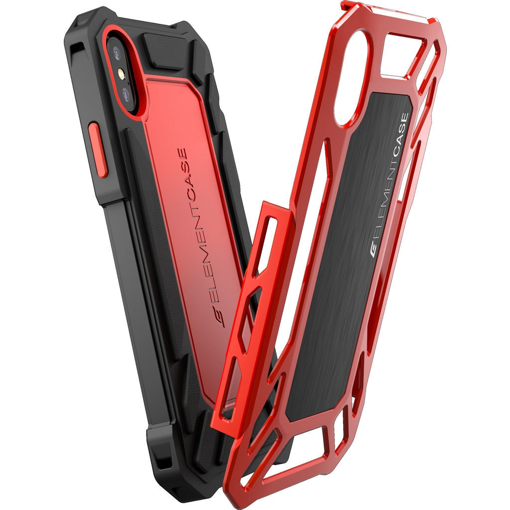 Element Case Roll Cage Iphone X Case Black Red