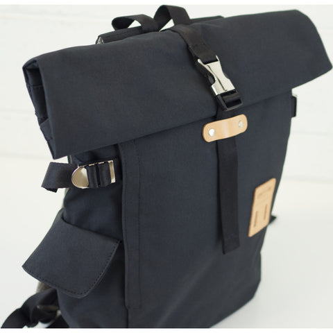 Harvest Label Rolltop Backpack Plus | Black hfc-9017-blk