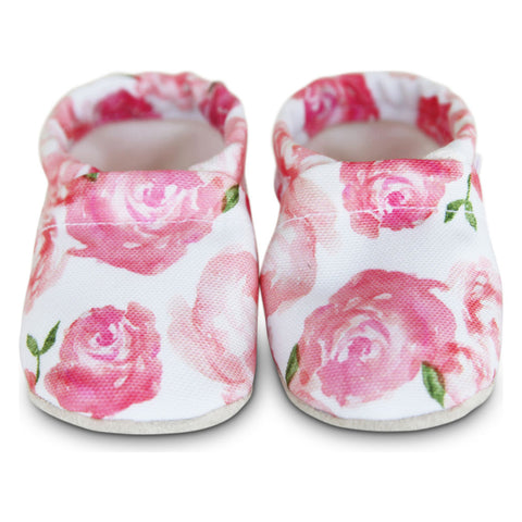 Clamfeet Rosalee Baby Moccasins | Pink/White