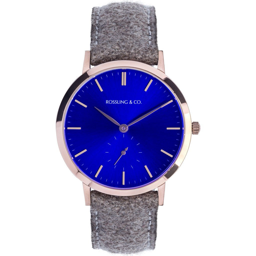 Rossling & Co. Modern 36mm Aberdeen Watch | Gold/Sunburst Blue/Gold RO-003-006