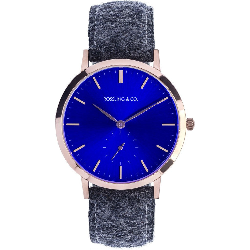 Rossling & Co. Modern 36mm Glencoe Watch | Gold/Sunburst Blue/Gold RO-003-015