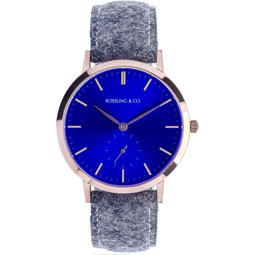 Rossling & Co. Modern 36mm Stirling Watch | Gold/Sunburst Blue/Gold RO-003-016