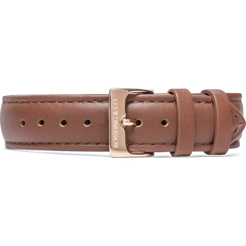 Rossling & Co. Westhill 18mm Watch Strap | Brown Leather RO-998-007