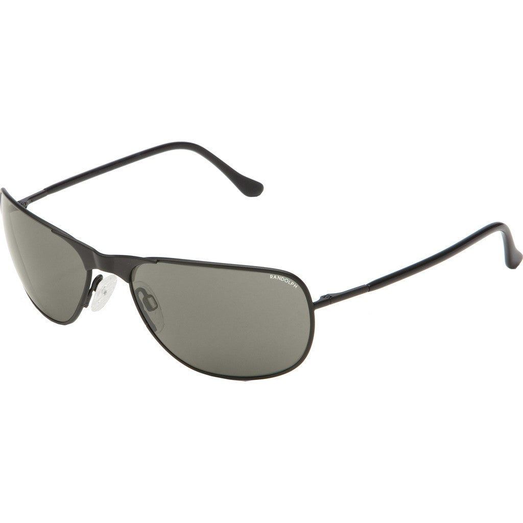 Randolph Engineering Raptor Matte Black Sunglasses | Gray Polarized PC Skull 59MM RPT2434-PC