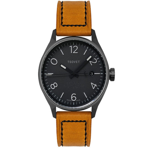 Tsovet SMT-RS40 Gunmetal & Black Automatic Watch | Camel RS221021-45A