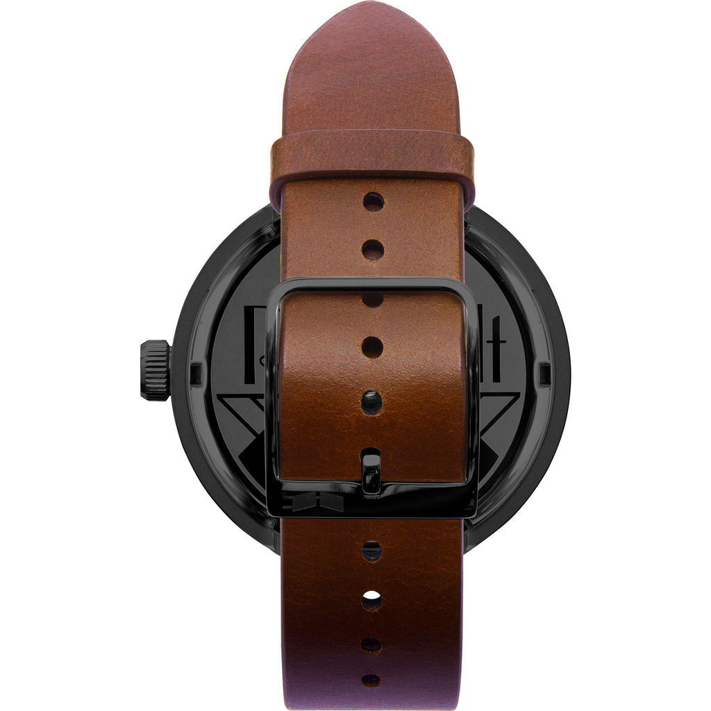 Vestal Roosevelt Italian Leather Watch | Cordovan/Black