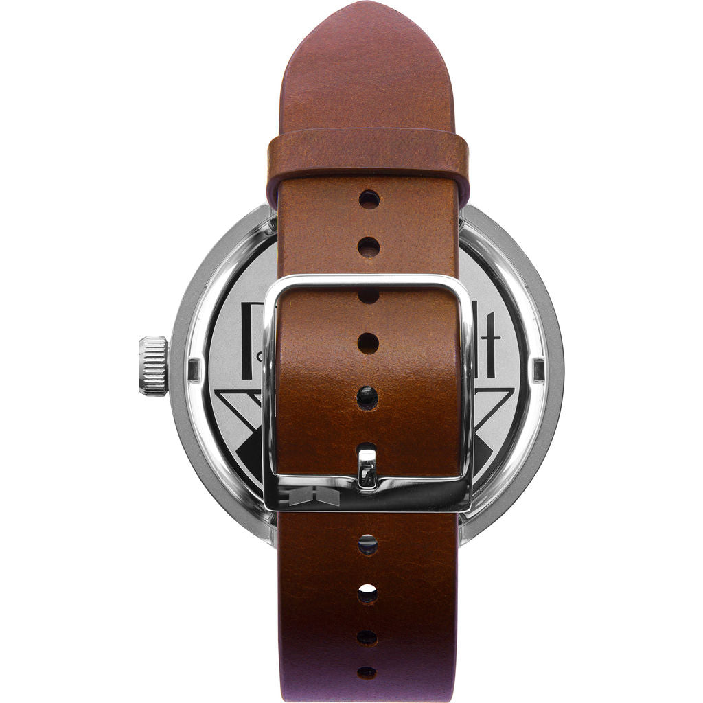 Vestal Roosevelt Italian Leather Watch | Cordovan/Silver/Marine-Gold