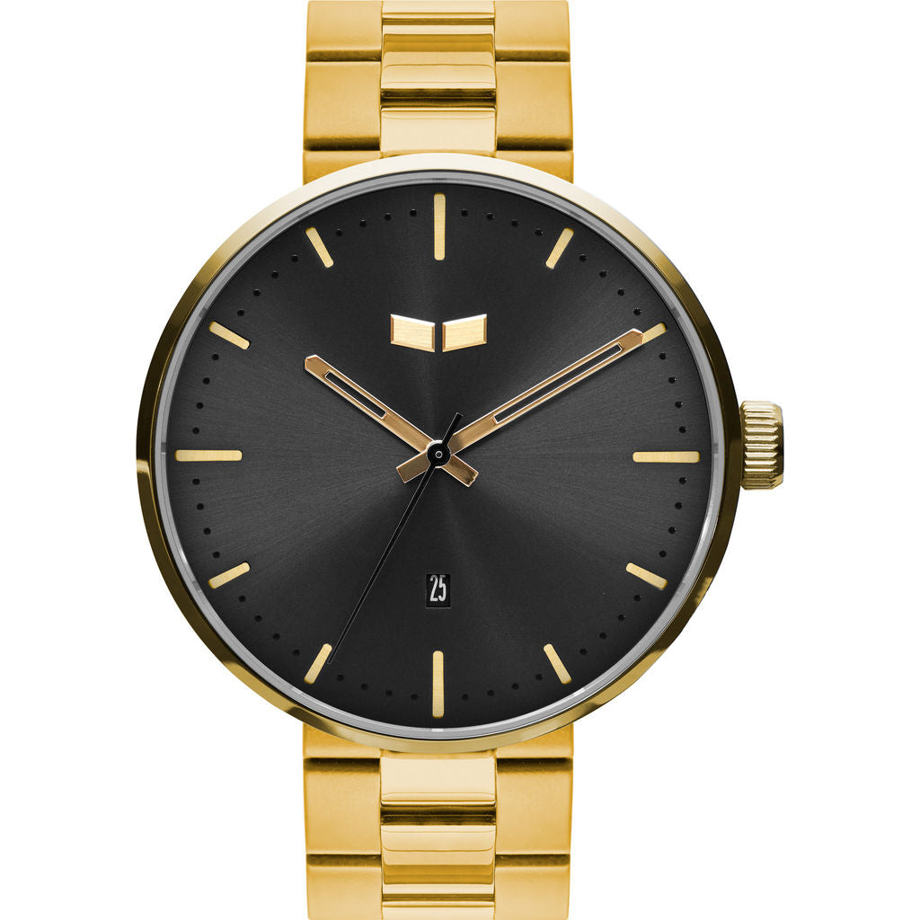 Vestal Roosevelt 3-Link Metal Watch | Gold/Black