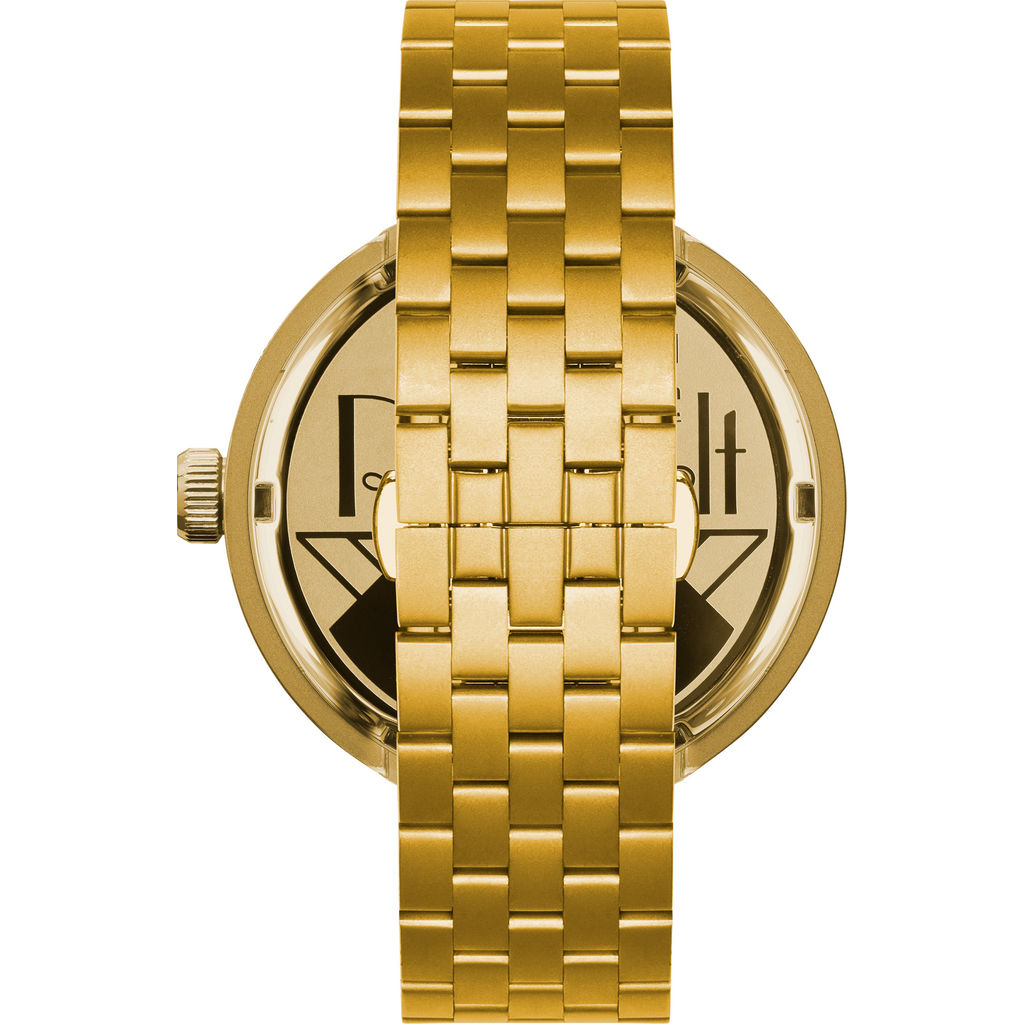 Vestal Roosevelt 5-Link Metal Watch | Gold/Black