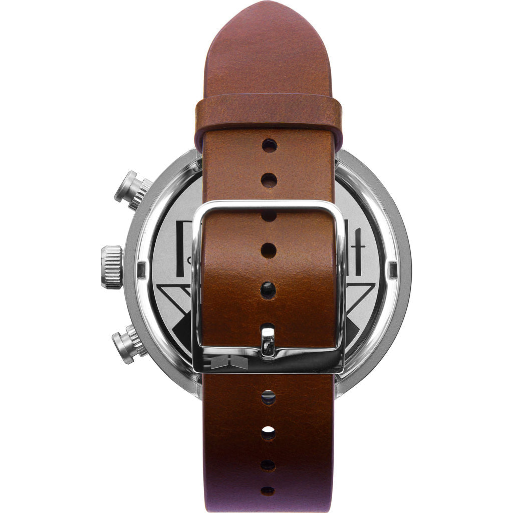 Vestal Roosevelt Chrono Italian Leather Watch | Brown/Silver/Marine