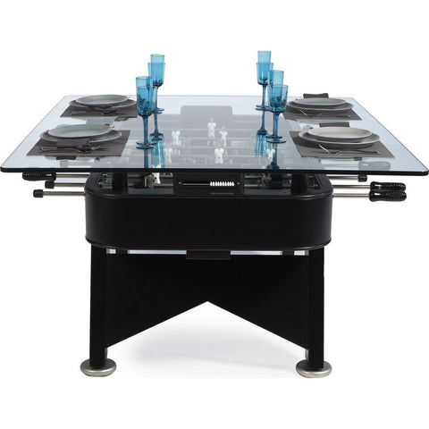RS Barcelona RS# Rectangular Foosball Low Dining Table | Black