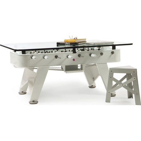 RS Barcelona RS# Rectangular Foosball Low Dining Table | White