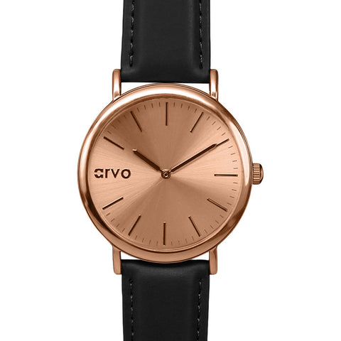 Arvo Rose Time Sawyer Watch | Rose/Black