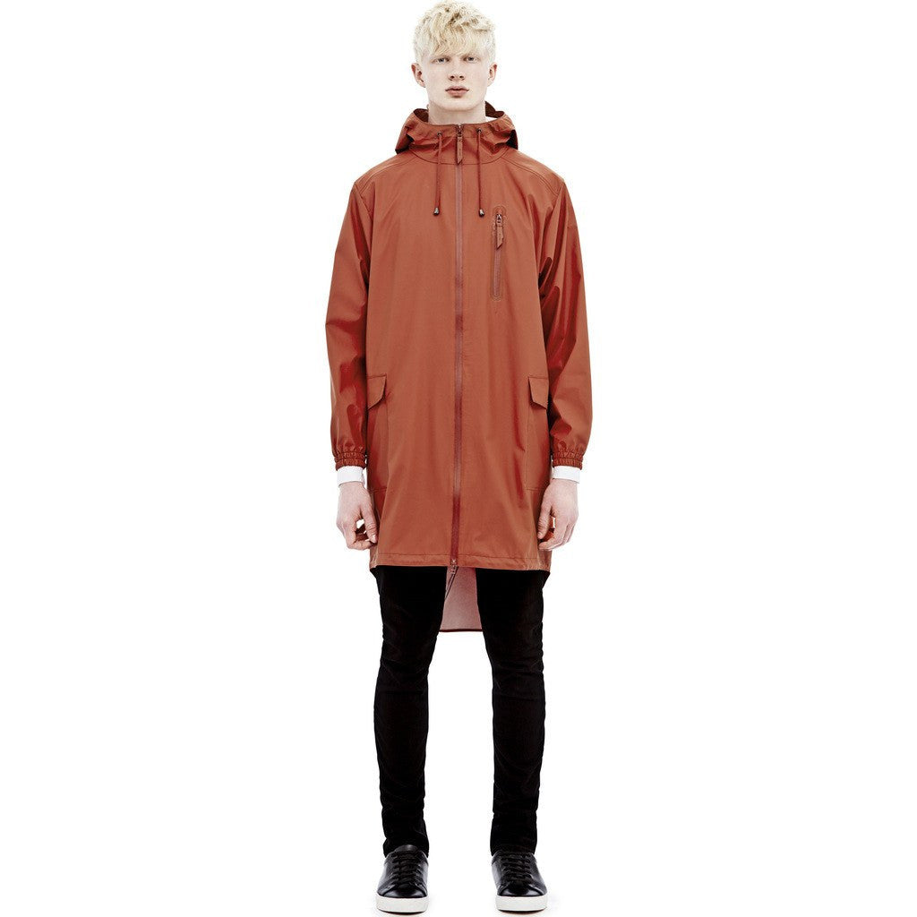 RAINS Waterproof Parka Coat | Rust 1233 XS/S