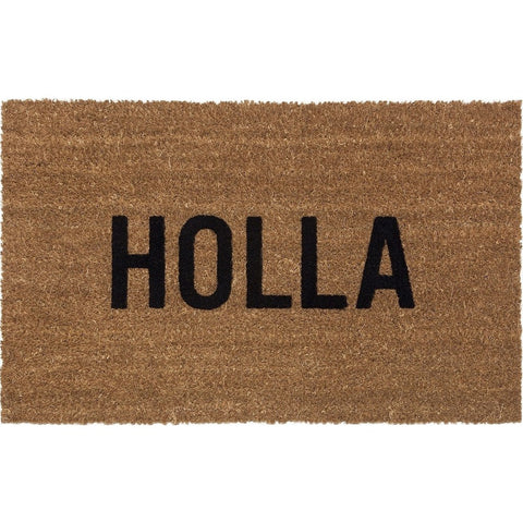 Reed Wilson Design Holla Doormat | Flocked Lettering DRMT104