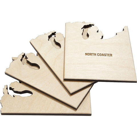 Reed Wilson Design North Coaster 4 Piece Set | Baltic Birch CSTR104