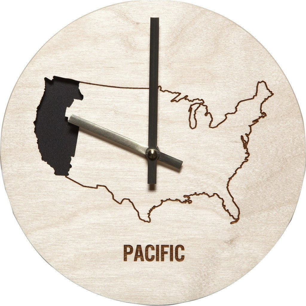 Reed Wilson Design Pacific Time Zone Clock | Baltic Birch CLK101
