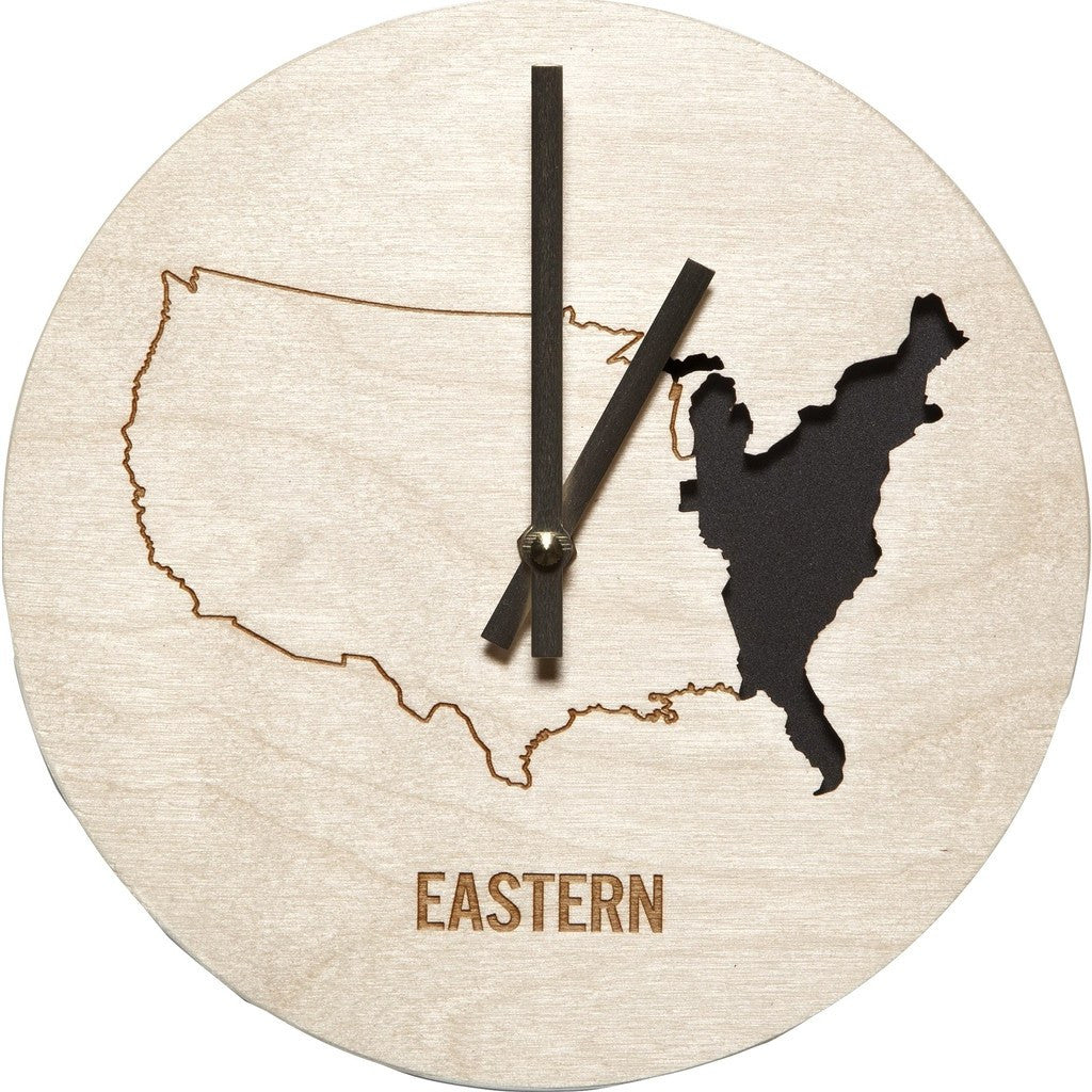 Reed Wilson Design Eastern Time Zone Clock | Baltic Birch CLK104
