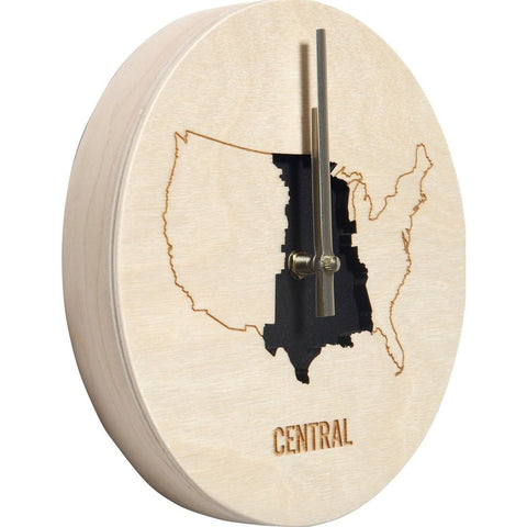 Reed Wilson Design Central Time Zone Clock | Baltic Birch CLK103