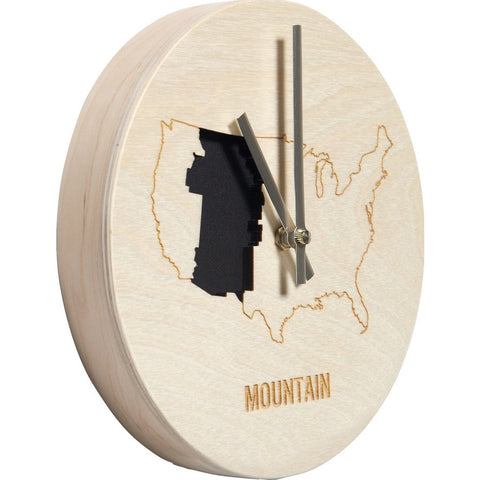 Reed Wilson Design Mountain Time Zone Clock | Baltic Birch CLK102