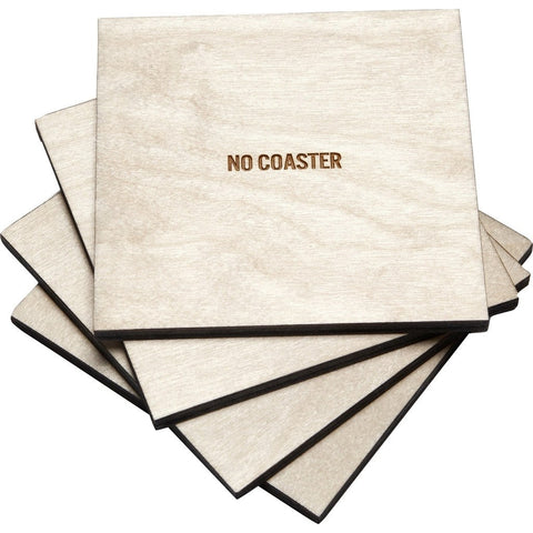 Reed Wilson Design No Coaster 4 Piece Set | Baltic Birch CSTR105