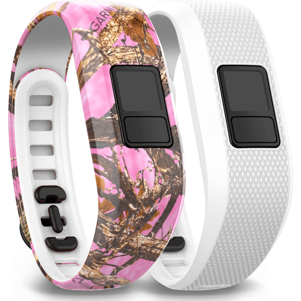 Garmin Vivofit 3 Bands | Pink Camo and White Regular 010-12452-32